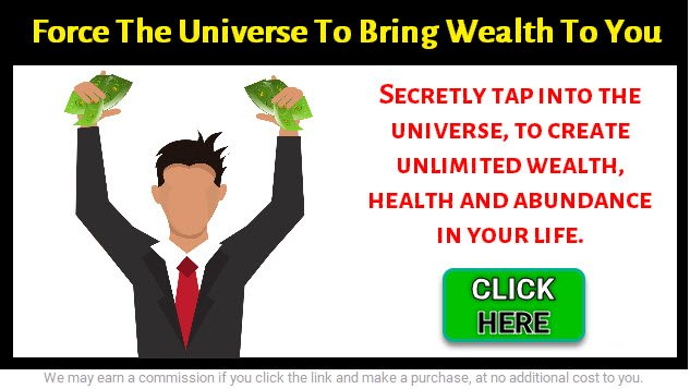 graphic image of a man holding his arms up with fist full of dollars - how to manifest money
