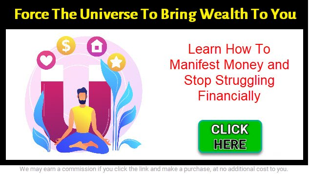 graphic of man manifesting money in banner - click here to start manifesting money fast